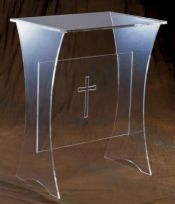 Acrylic Offertory Table w/Cross 3307